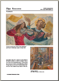 """International Contemporary Artists"",volume 4,page with artworks of Olga Kvassova"
